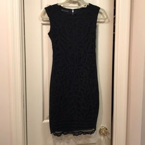 Black lace fitted spring summer dress